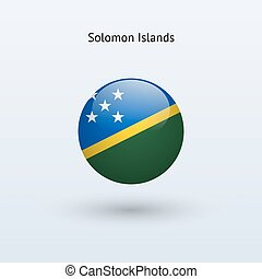 Solomon Islands round flag. Vector illustration. - Solomon...