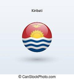 Kiribati round flag. Vector illustration. - Kiribati round...