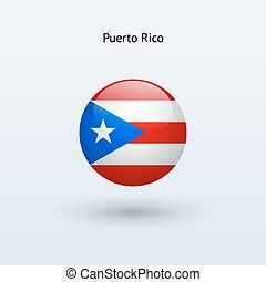 Puerto Rico round flag Vector illustration - Puerto Rico...