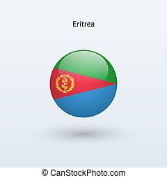 Eritrea round flag. Vector illustration. - Eritrea round...