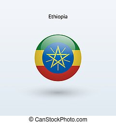 Ethiopia round flag Vector illustration - Ethiopia round...