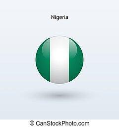 Nigeria round flag Vector illustration - Nigeria round flag...