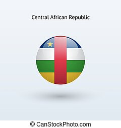 Central African Republic round flag. - Central African...