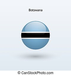 Botswana round flag Vector illustration - Botswana round...
