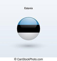 Estonia round flag Vector illustration - Estonia round flag...