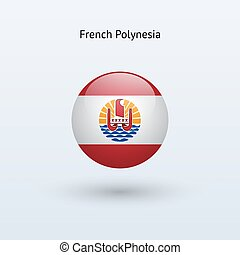 French Polynesia round flag Vector illustration - French...