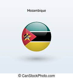Mozambique round flag Vector illustration - Mozambique round...
