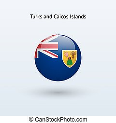 Turks and Caicos Islands round flag. - Turks and Caicos...