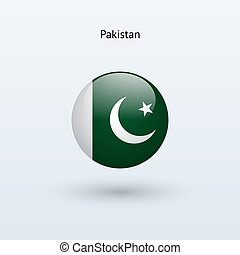 Pakistan round flag Vector illustration - Pakistan round...