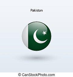Pakistan round flag Vector illustration - Pakistan round...