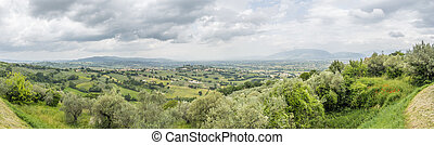 scenery from Italy Marche - An image of an overcast scenery...