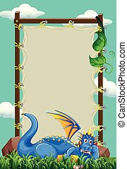 Frame designs with dragon in the field
