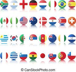 nacional, banderas, Países