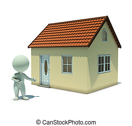 3d small people - show a home - 3d small people shows the...
