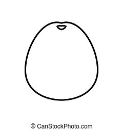 Pomelo icon, outline style - Pomelo icon in outline style...