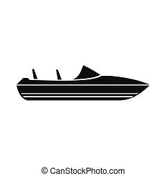 Little powerboat icon, simple style