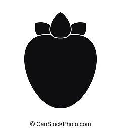 Ripe persimmon icon, simple style - Ripe persimmon icon in...