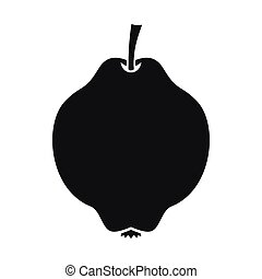 Quince fruit icon, simple style - Quince fruit icon in...