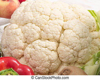 cauliflower and some fresh vegetables