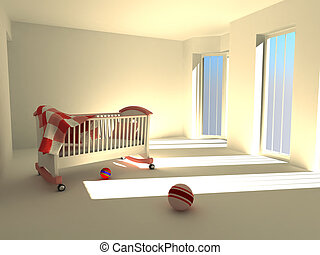 Children\'s bedroom. 3d