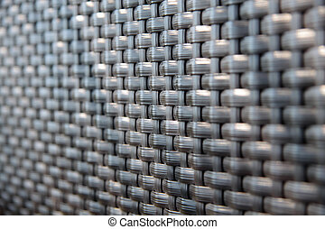 Close-up of a deck chair mesh