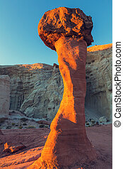 Sandstone formations in Nevada, USA