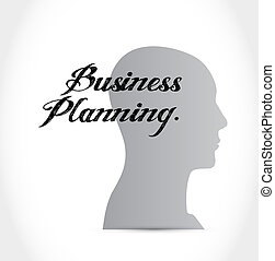 business planning brain sign concept illustration graphic...