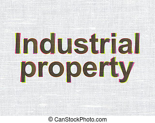 Law concept: Industrial Property on fabric texture background