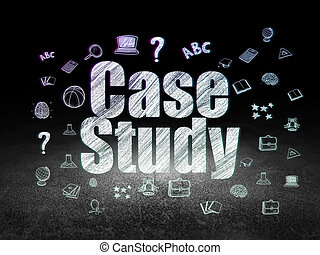 Learning concept: Case Study in grunge dark room
