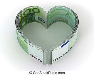 Money. Heart. 3d