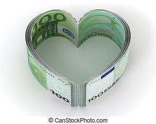 Money. Heart. 3d