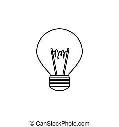 light bulb , Vector illustration over white background -...