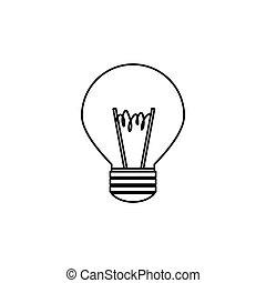 light bulb , Vector illustration over white background -...