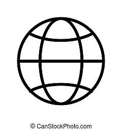 globe diagram , Vector illustration over white background