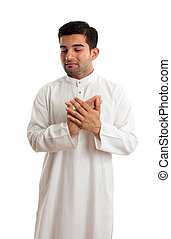 Worried stressed sad arab man - A worried,troubled, stressed...