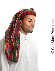 Smiling young arab man - Smiling adult arab middle eastern...