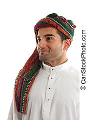 Confident, smiling ethnic arab man - An ethnic middle easter...