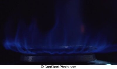 close up of Gas fire