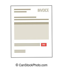 paper document , Vector illustration