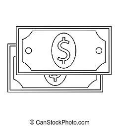 dollar bill , Vector illustration