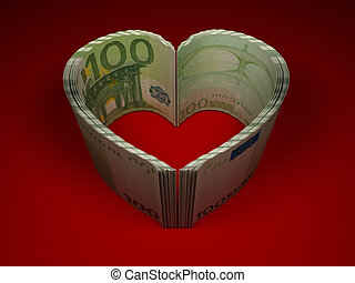 Money Heart 3d