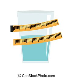 isolated water design. Healthy lifestyle concept , vector...