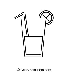 isolated juice design. Healthy lifestyle concept , vector...