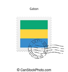 Gabon Flag Postage Stamp. - Gabon Flag Postage Stamp on...