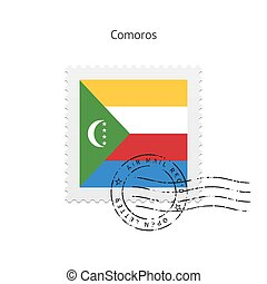 Comoros Flag Postage Stamp. - Comoros Flag Postage Stamp on...