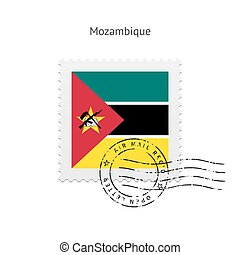 Mozambique Flag Postage Stamp - Mozambique Flag Postage...