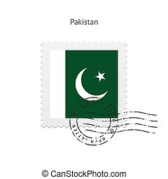 Pakistan Flag Postage Stamp - Pakistan Flag Postage Stamp on...