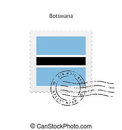 Botswana Flag Postage Stamp - Botswana Flag Postage Stamp on...