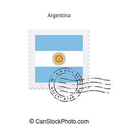 Argentina Flag Postage Stamp. - Argentina Flag Postage Stamp...