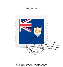 Anguilla Flag Postage Stamp. - Anguilla Flag Postage Stamp...